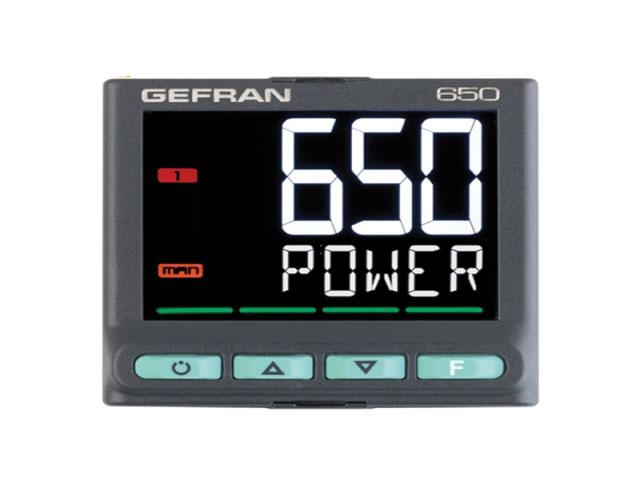 Bộ điều khiển nhiệt độ Gefran 650 PID 1/16 DIN
